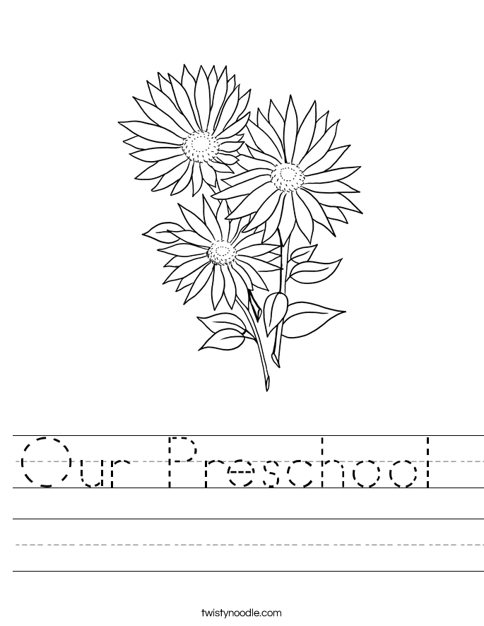 Our Preschool  Worksheet