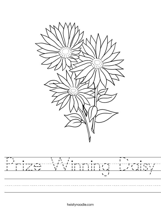 Prize Winning Daisy Worksheet - Twisty Noodle
