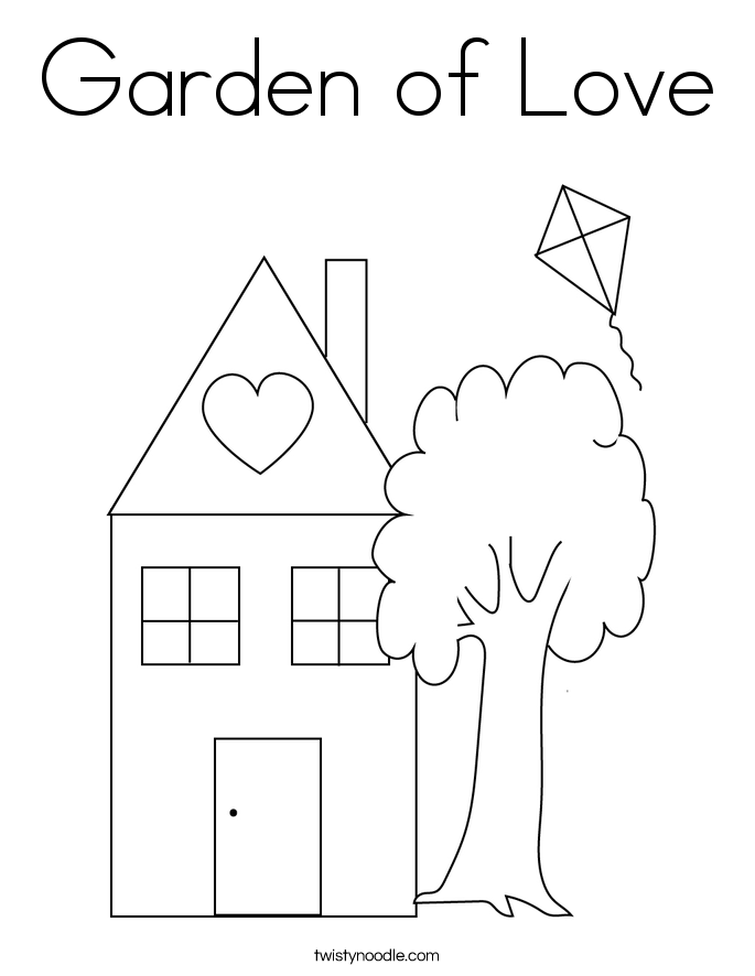 Garden of Love Coloring Page - Twisty Noodle