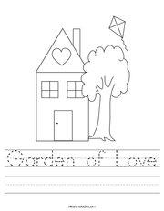 Garden of Love Handwriting Sheet