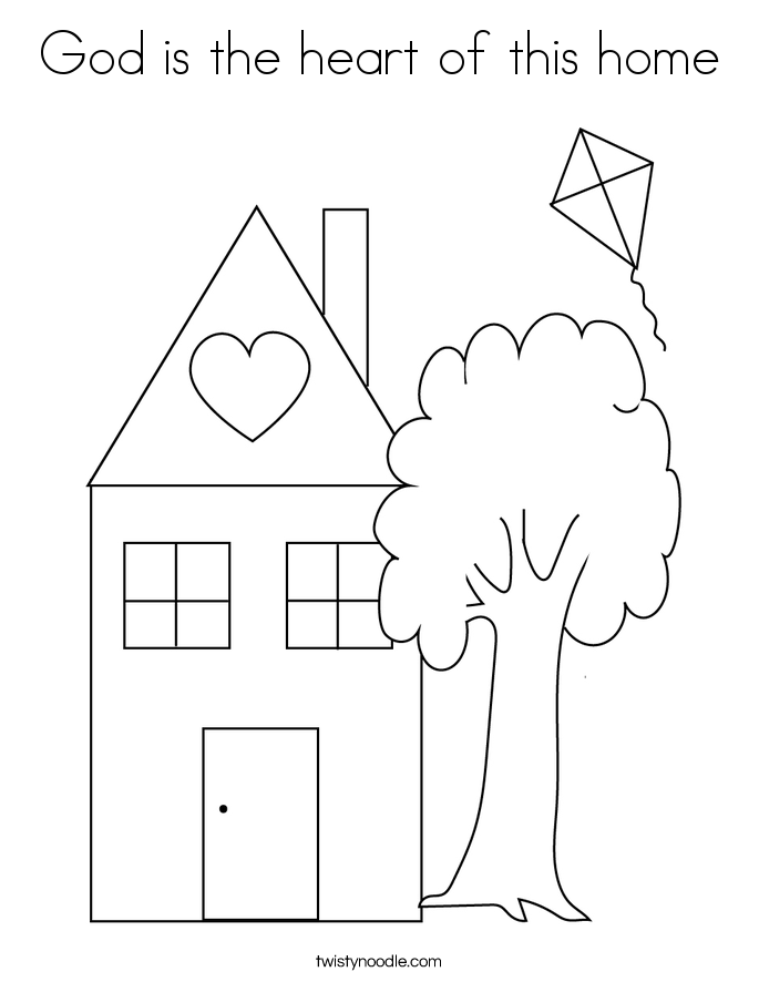 God is the heart of this home Coloring