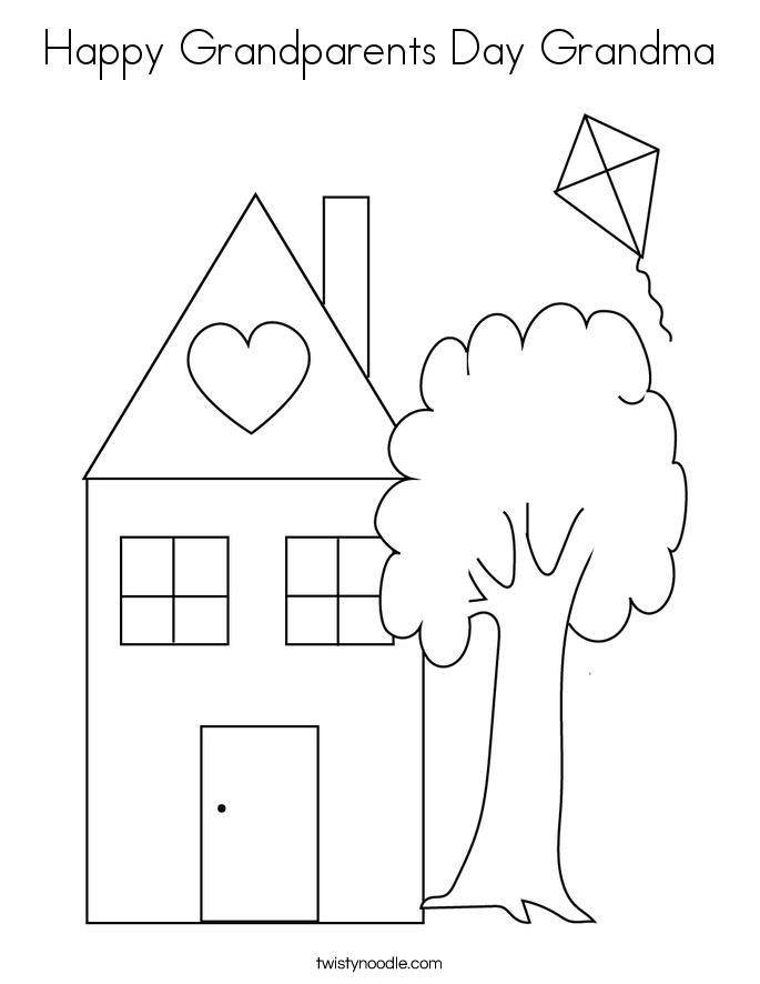 happy grandparents day grandma coloring page