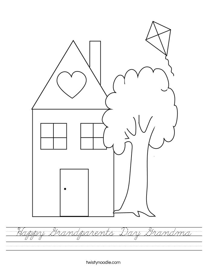 Happy Grandparents Day Grandma Worksheet