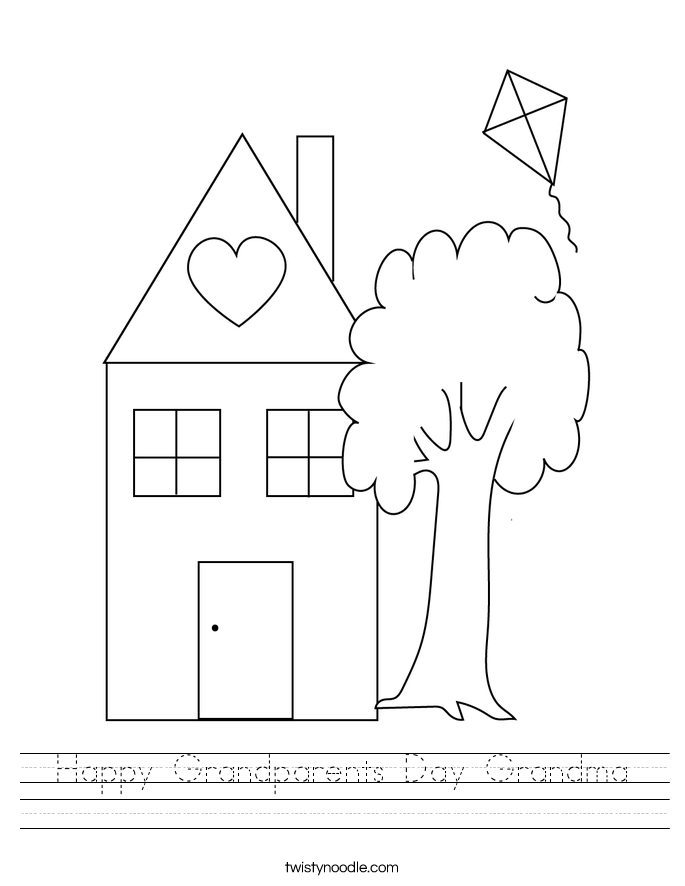 Happy Grandparents Day Grandma Worksheet