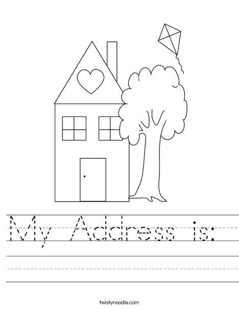 My Address Worksheet Ora Exacta
