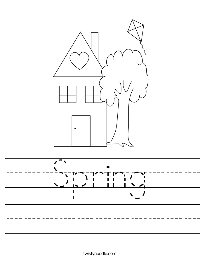 Spring Worksheet - Twisty Noodle