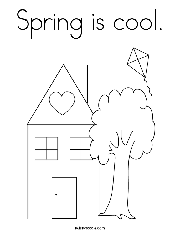 Spring is cool. Coloring Page