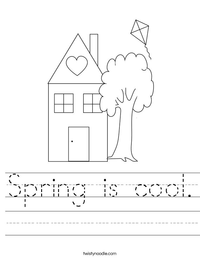Spring is cool. Worksheet