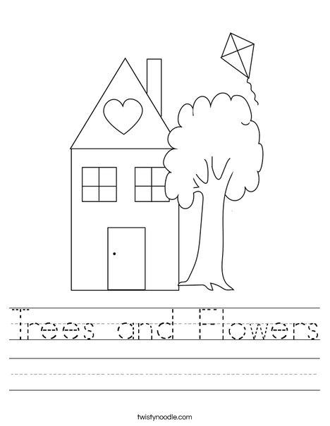 trees and flowers worksheet twisty noodle. Black Bedroom Furniture Sets. Home Design Ideas