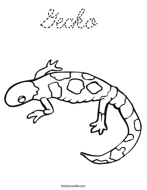 kaboose coloring pages printing gecko - photo #22
