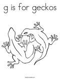 g is for geckos Coloring Page
