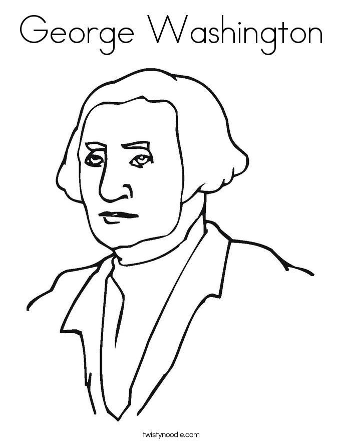 George washington coloring page twisty noodle for George washington coloring pages