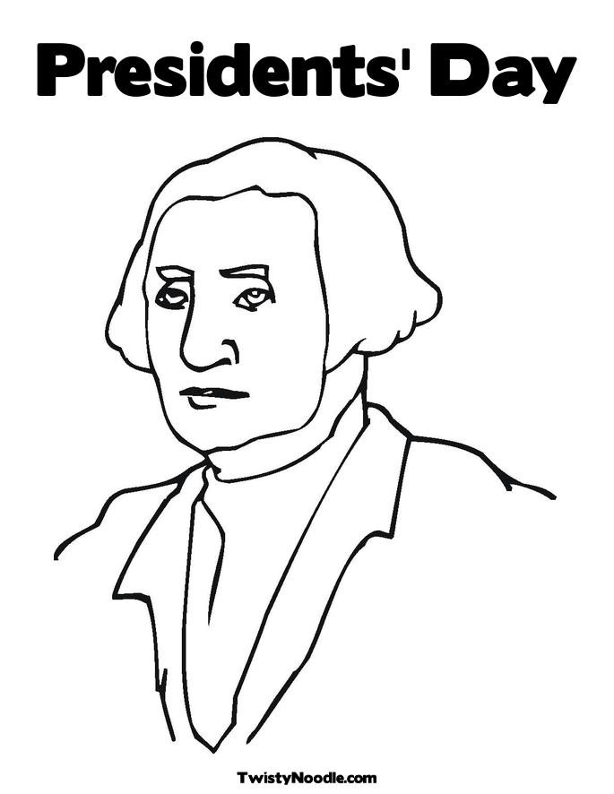 Presidents Day Free Colouring Pages Presidents Day Coloring Page