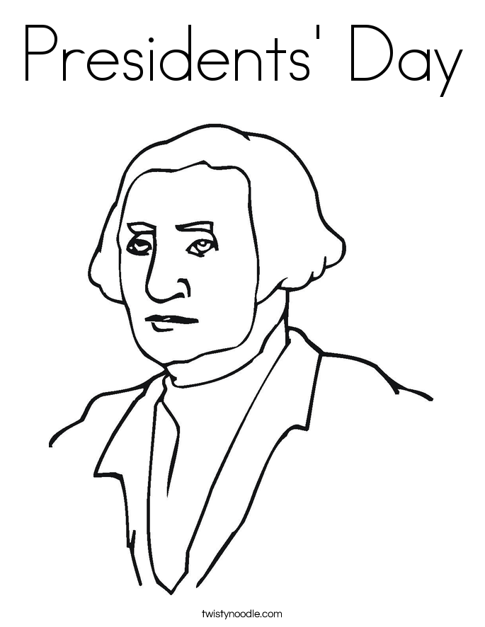 Presidents' Day Coloring Page