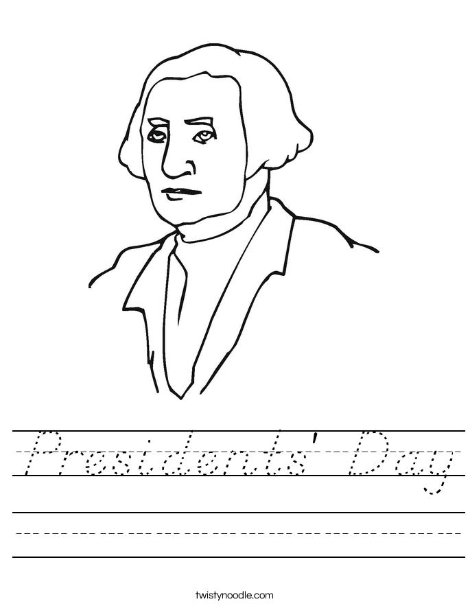 Presidents' Day Worksheet