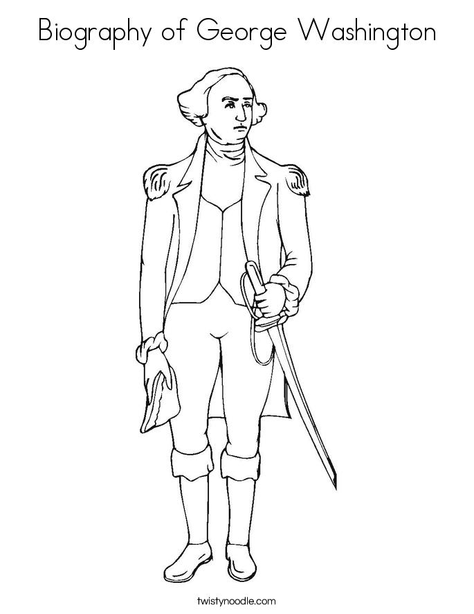 Biography Of George Washington Coloring Page Twisty Noodle Coloring Page Of George Washington