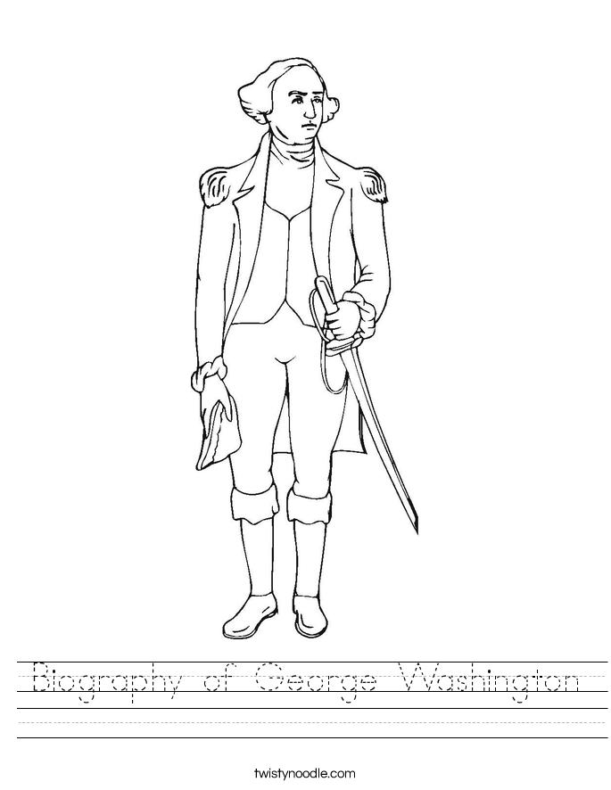 Biography of George Washington Worksheet