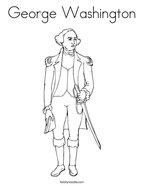 George Washington Coloring Page