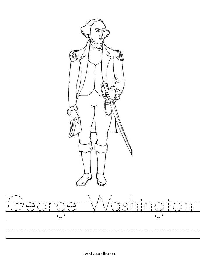 George Washington Worksheet - Twisty Noodle