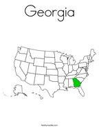 Georgia Coloring Page
