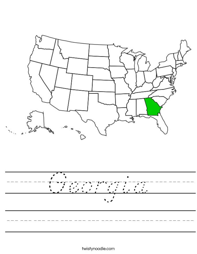 Georgia Worksheet