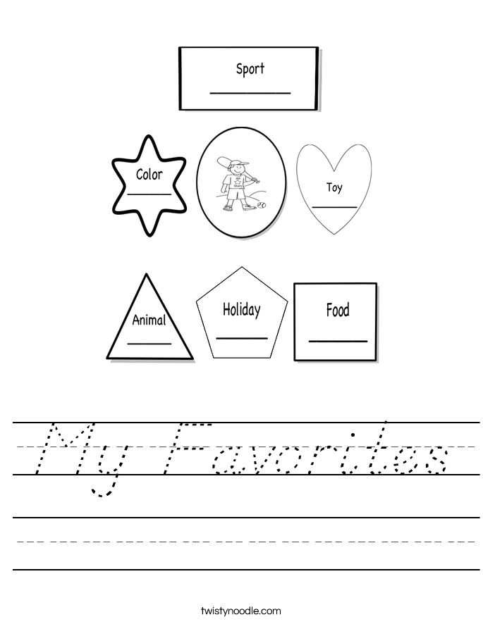 My Favorites Worksheet