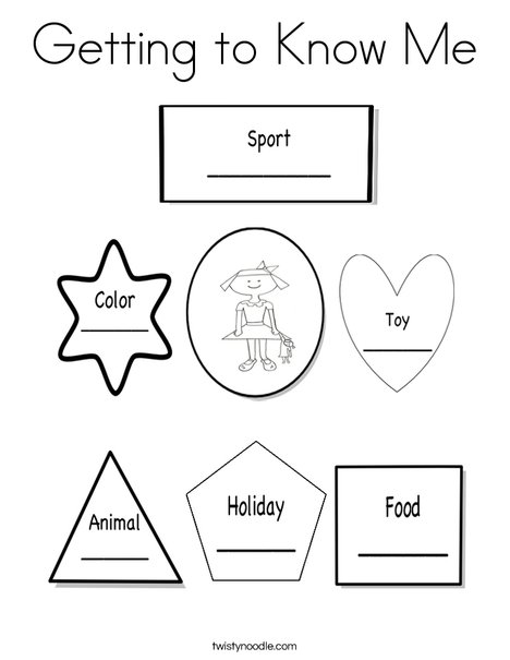 Getting to know me girl Coloring Page