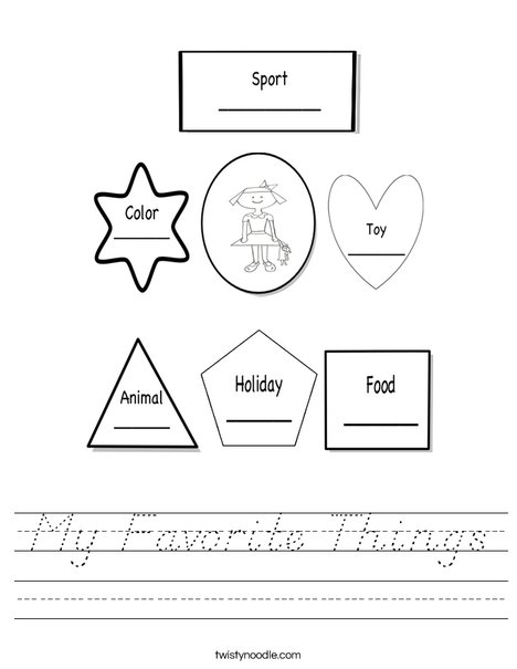Getting to know me girl Worksheet