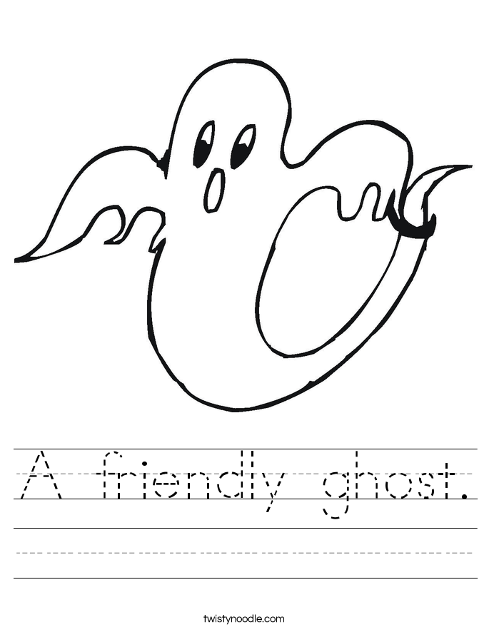 A friendly ghost. Worksheet