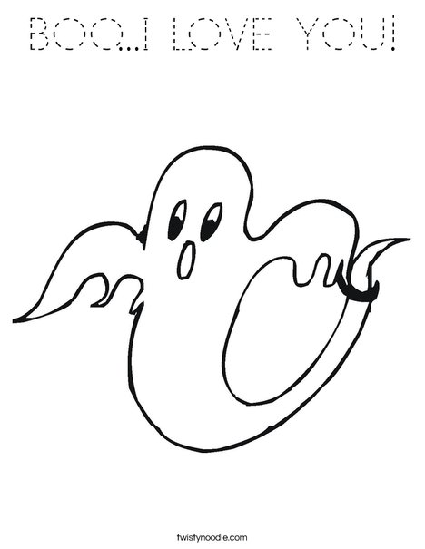 Ghost 2 Coloring Page