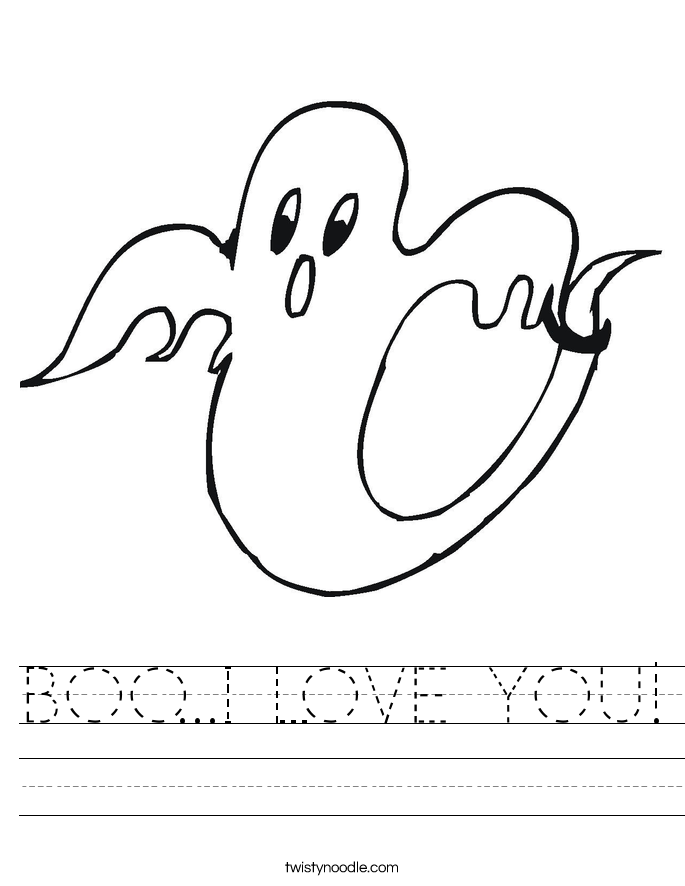 BOO...I LOVE YOU! Worksheet