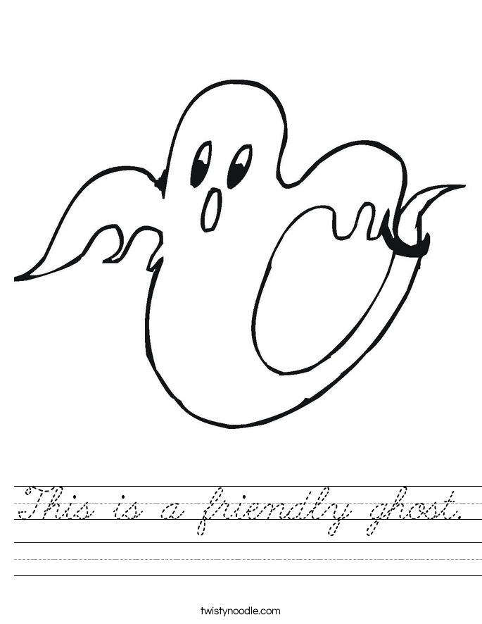 This is a friendly ghost. Worksheet