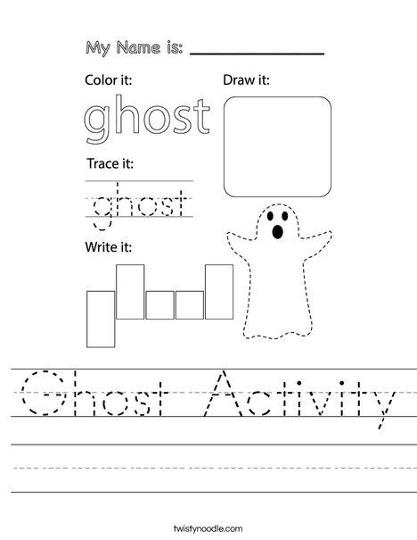 Ghost Activity Worksheet