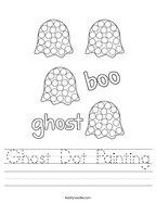 Ghost Dot Painting Handwriting Sheet