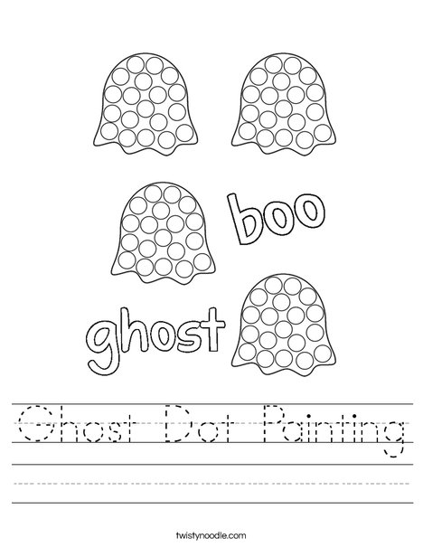 Ghost dot painting Worksheet