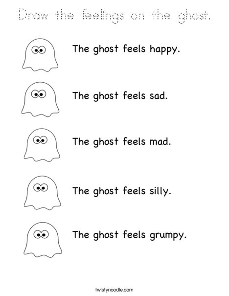 Ghost Feelings Coloring Page