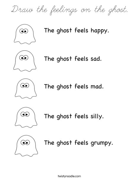 Ghost Feelings Coloring Page