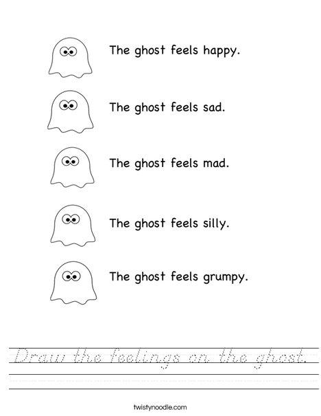 Ghost Feelings Worksheet