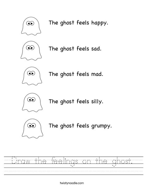 Ghost Feelings Worksheet