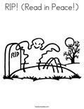 RIP! (Read in Peace!) Coloring Page