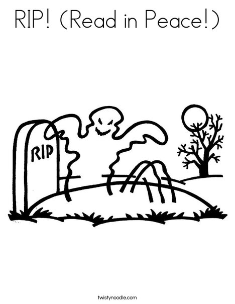 Ghost in graveyard Coloring Page