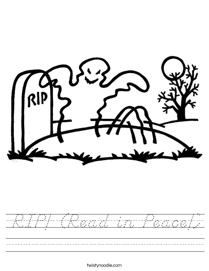 RIP! (Read in Peace!) Worksheet