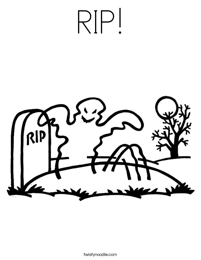 RIP! Coloring Page