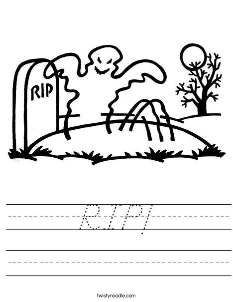 Ghost in graveyard Worksheet
