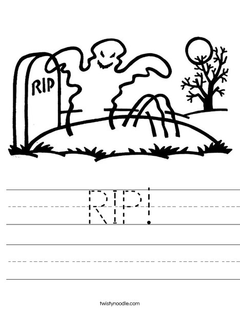 Ghost in graveyard Worksheet