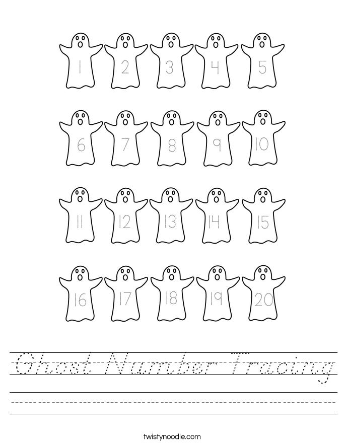 Ghost Number Tracing Worksheet