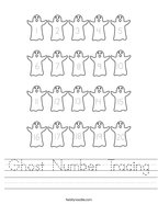 Ghost Number Tracing Handwriting Sheet