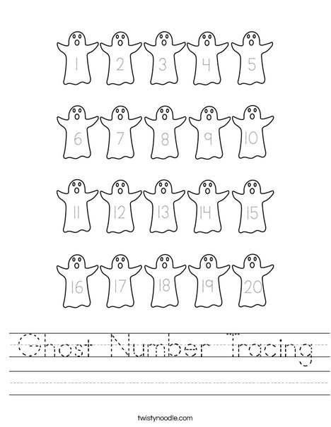 Ghost Number Tracing Worksheet