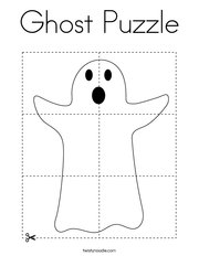 Ghost Puzzle Coloring Page
