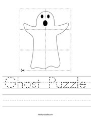 Ghost Puzzle Handwriting Sheet